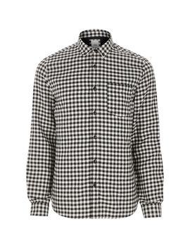 Black Gingham Long Sleeve Shirt by River Island