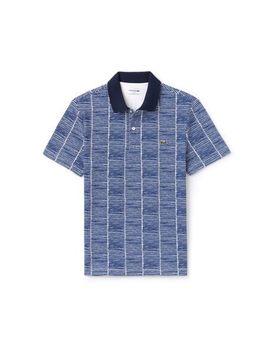 Men's Slim Fit Print Cotton Piqué Polo by Lacoste