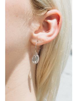 Silver Angel Coin Earrings by Brandy Melville