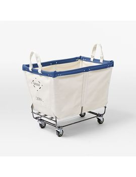Steele Canvas Small Truck, Natural + Royal Blue Trim by West Elm