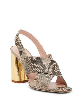 Christopher Snake Embossed Leather Sandal by Kate Spade New York