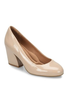 Tamira Patent Leather Block Heel Pumps by Generic