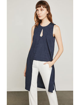 Sleeveless Pinstripe Tunic Top by Bcbgmaxazria