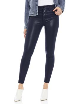 The Stiletto Coated High Rise Skinny Jeans by Sam Edelman