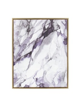 "Kate & Laurel 36""X28"" Sylvie Lilac Marble Abstract By Amy Peterson Framed Wall Canvas Gold by Shop All Kate & Laurel All Things Decor"