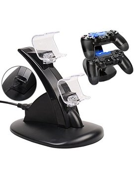 Ag Ptek Dual Usb Charger Charging Docking Station Stand For Sony Playstation 4 Ps4 Controller by Ag Ptek