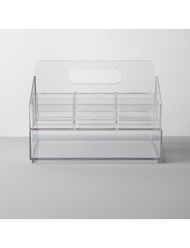Bathroom Plastic Nail Organizer Caddy Set Clear   Made By Design™ by Shop All Made By Design™