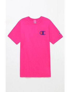 Big C Pigment Pink T Shirt by Champion