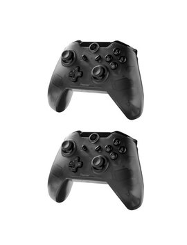 Nintendo Switch Pro Controller Nintendo Switch Controller By Insten 2 Pack Wireless Controller With Micro Usb Charge Cable For Nintendo Switch   Smoke Black by Insten