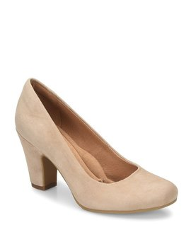Madina Suede Block Heel Pumps by Generic