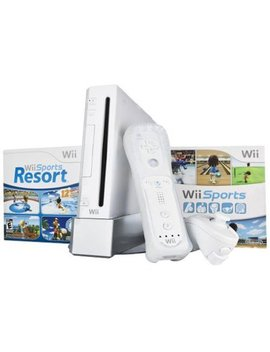 Refurbished Wii Bundle With Wii Sports & Wii Sports Resort White by Nintendo