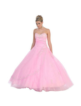 Strapless Formal Princess Ball Gown   Juniors by Asstd National Brand