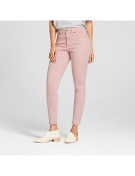 Women's High Rise Raw Hem Skinny Jeans   Universal Thread™ Pink by Shop All Universal Thread™