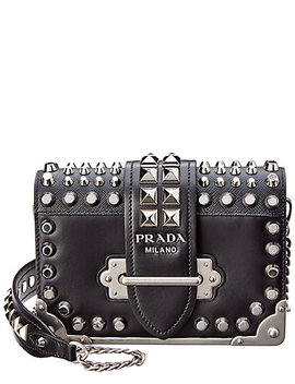 Prada Cahier Leather Chain Shoulder Bag by Prada
