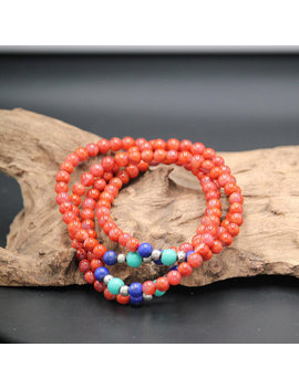 South Red Agate Beaded Necklace Woman Jade Necklace Red Necklace by Jade Artisan Gifts
