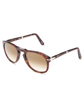 Persol Men's Po0714 Plastic Pilot Sunglasses by Persol
