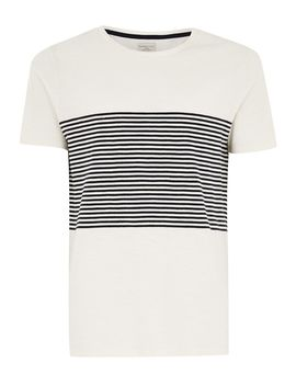 Selected Homme Beige Stripe T Shirt by Topman