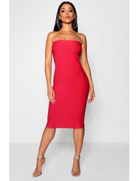 Crepe Bandeau Mini Dress by Boohoo