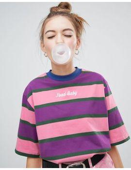 Lazy Oaf Boxy Striped Food Baby T Shirt by Lazy Oaf