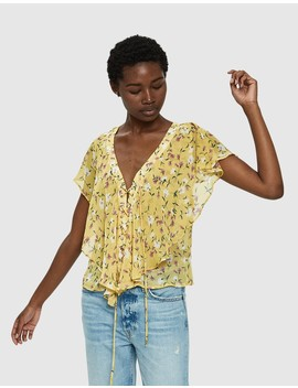 Alexandrine Lace Up Top by Farrow