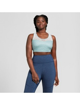 Women's Plus Size Mesh Pieced Sports Bra   Joy Lab™ Geo/Navy by Shop All Joy Lab™