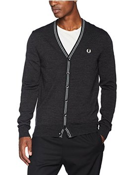 Fred Perry Men's Fine Merino V Neck Cardigan by Fred+Perry