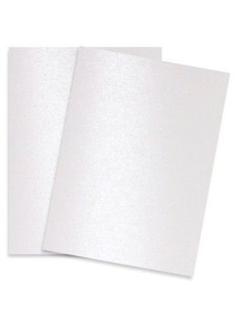 Pure Pearl White   8.5 X11 Shimmer Metallic Card Stock Paper   100 Sheets Per Pack by Paper Papers