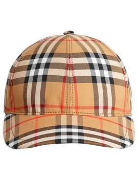 Vintage Check Baseball Cap by Burberry