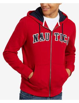 Men's Full Zip Logo Hoodie, Created For Macy's by Nautica
