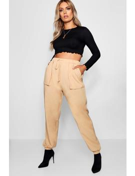 Plus Woven Pocket Cargo Trouser by Boohoo