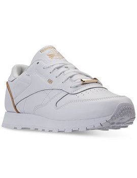 Women's Classic Leather Hw Casual Sneakers From Finish Line by Reebok