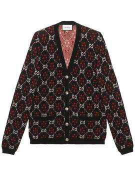 Gucci Gg Diamond Wool Cardiganhome Men Gucci Clothing Cardigans by Gucci