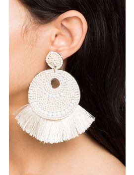 Havana Mobile Fan Fringe Earrings by A'gaci