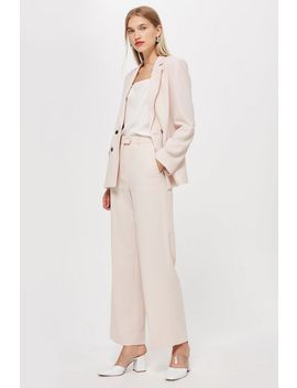 Blush Slouch Suit Trousers by Topshop
