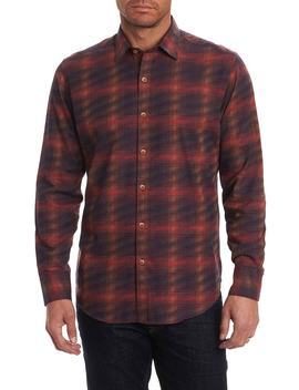Plaid Classic Fit Flannel Sport Shirt by Robert Graham