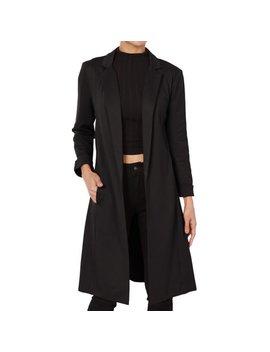 The Mogan Junior's Longline Blazer Day To Night Open Front Duster Long Jacket by Walmart