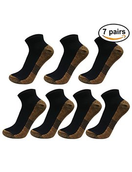 Copper Athletic Compression Socks For Men&Women Anti Bacterial Ankle Sport Socks by Sladory
