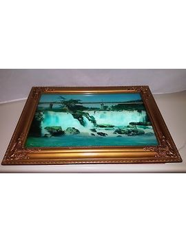 Vintage Framed Lighted Motion Waterfall Picture Frame by Ebay Seller