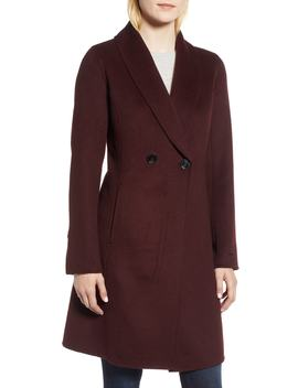 Caleigh Fitted Wool Blend Coat by Tahari