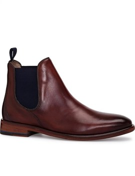 Antique Calf Leather Chelsea Boot by Oliver Sweeney