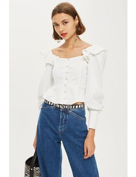 Ruffle Structured Blouse by Topshop