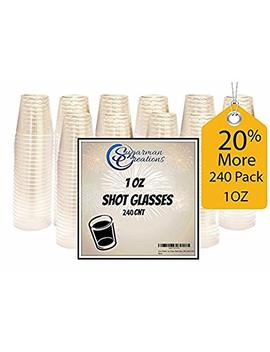 Sugarman Creations Clear Plastic Disposable Shot Glasses, Heavy Duty Restaurant Grade, 1 Ounce   (240 Pieces) Summer Sale! by Sugarman Creations