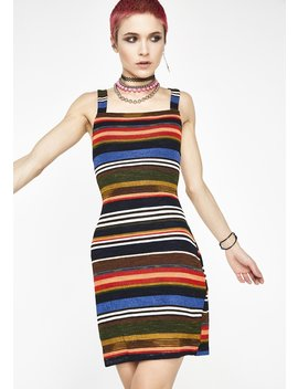 Anything Can Happen Stripe Dress by Honey Punch