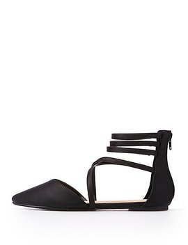 Crisscross Pointed Flat Sandals by Charlotte Russe