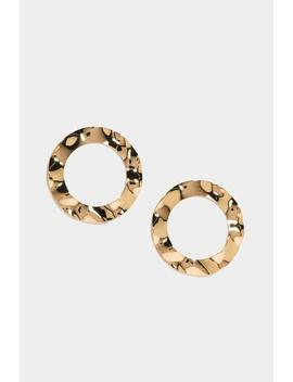Reflections Hammered Hoop Earrings by Nasty Gal