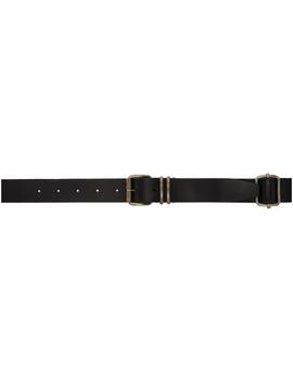 Black Multiple Buckle Belt by Ann Demeulemeester