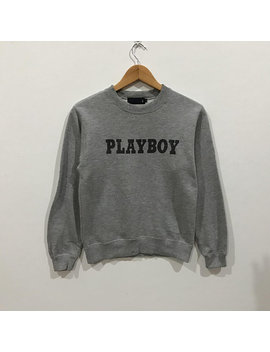 Rare !!! Vintage Playboy Big Logo Sweatshirt by Parkdowshop