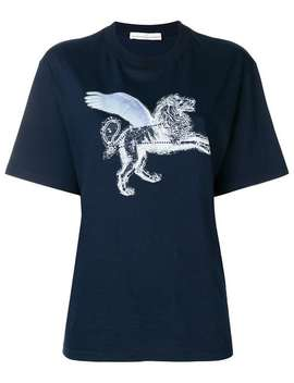 Strass Lion Print T Shirt by Golden Goose Deluxe Brand