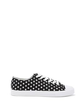 Polka Dot Low Top Sneakers by Forever 21