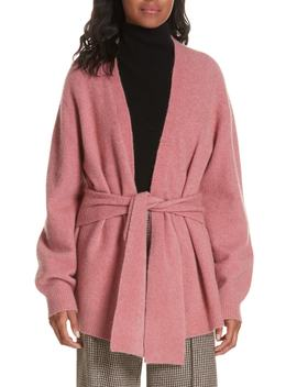 Estella Belted Wool Blend Cardigan by Veronica Beard